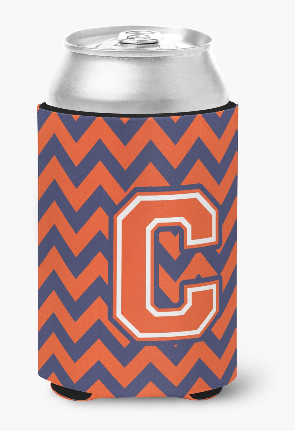 Letter C Chevron Orange and Blue Can or Bottle Hugger CJ1042-CCC by Caroline's Treasures