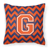 Buy this Letter G Chevron Orange and Blue Fabric Decorative Pillow CJ1042-GPW1414