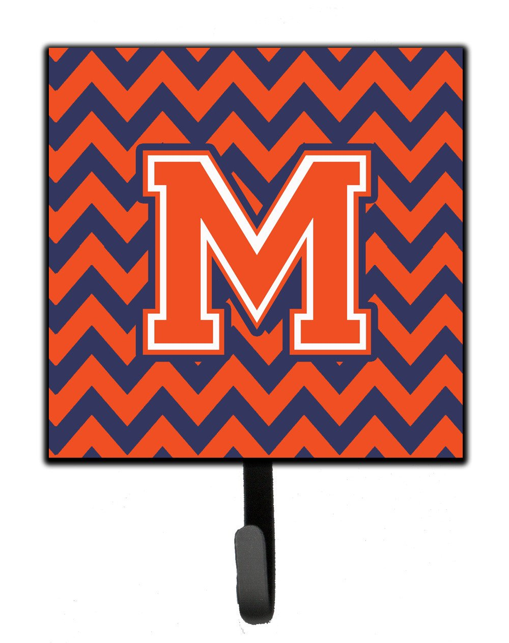 Letter M Chevron Orange and Blue Leash or Key Holder CJ1042-MSH4 by Caroline's Treasures