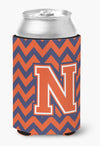 Letter N Chevron Orange and Blue Can or Bottle Hugger CJ1042-NCC by Caroline's Treasures