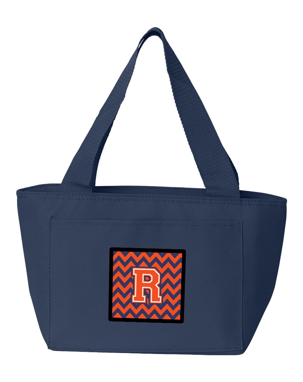 Letter R Chevron Orange and Blue Lunch Bag CJ1042-RNA-8808 by Caroline's Treasures