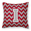 Buy this Letter I Chevron Crimson and Grey   Fabric Decorative Pillow CJ1043-IPW1414