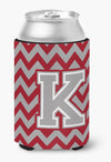 Buy this Letter K Chevron Crimson and Grey   Can or Bottle Hugger CJ1043-KCC