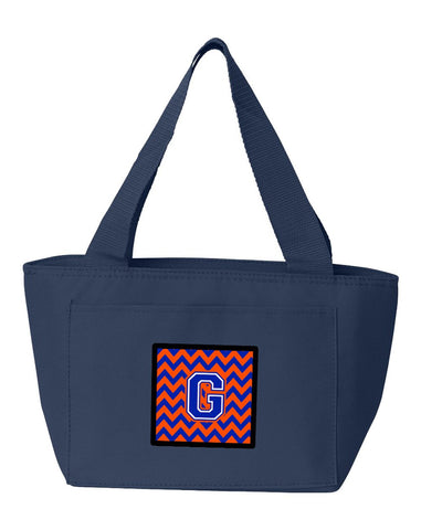 Buy this Letter G Chevron Orange and Blue Lunch Bag CJ1044-GNA-8808