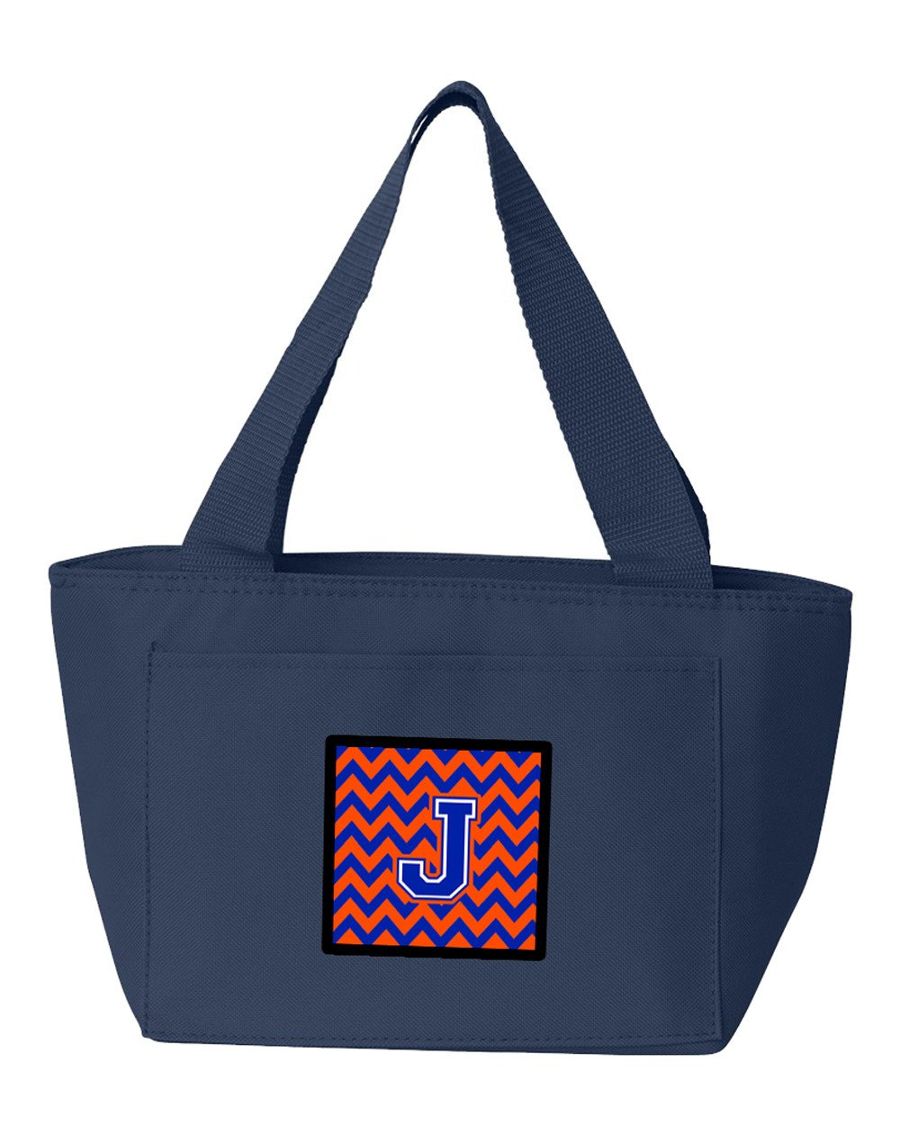 Letter J Chevron Orange and Blue Lunch Bag CJ1044-JNA-8808 by Caroline's Treasures