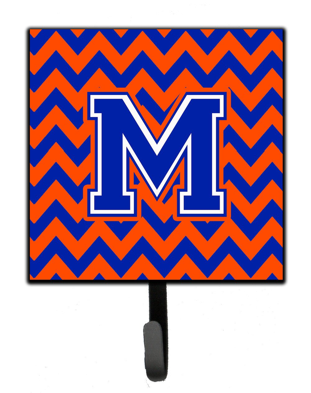 Letter M Chevron Orange and Blue Leash or Key Holder CJ1044-MSH4 by Caroline's Treasures