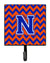 Buy this Letter N Chevron Orange and Blue Leash or Key Holder