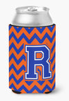 Buy this Letter R Chevron Orange and Blue Can or Bottle Hugger CJ1044-RCC