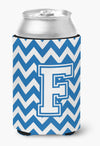Buy this Letter F Chevron Blue and White Can or Bottle Hugger CJ1045-FCC