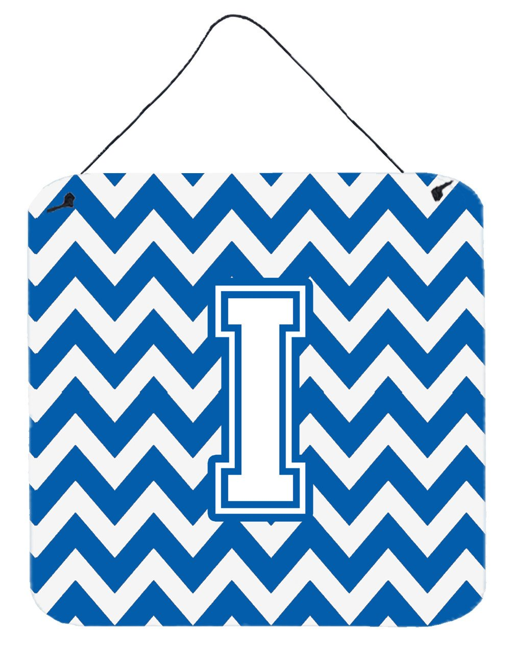 Buy this Letter I Chevron Blue and White Wall or Door Hanging Prints CJ1045-IDS66