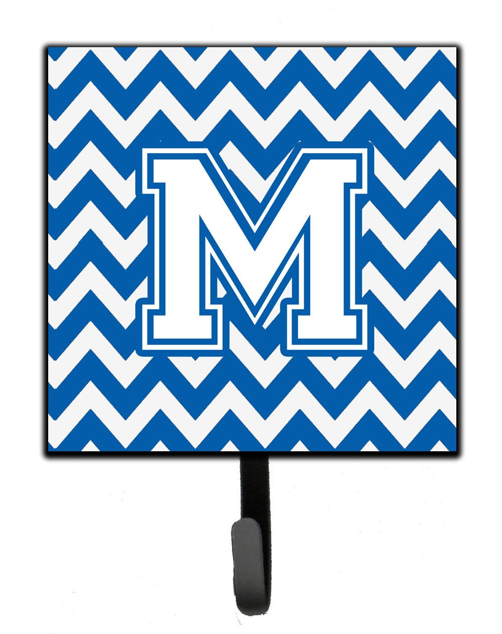Letter M Chevron Blue and White Leash or Key Holder CJ1045-MSH4 by Caroline's Treasures