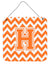 Letter H Chevron Orange and White Wall or Door Hanging Prints CJ1046-HDS66 by Caroline's Treasures