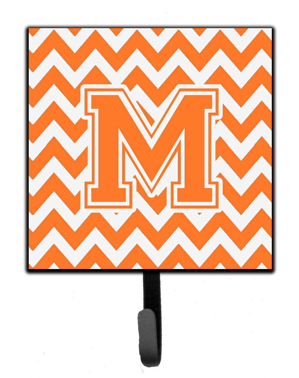 Letter M Chevron Orange and White Leash or Key Holder CJ1046-MSH4 by Caroline's Treasures