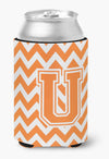 Buy this Letter U Chevron Orange and White Can or Bottle Hugger CJ1046-UCC