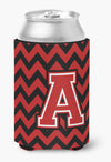 Buy this Letter A Chevron Black and Red   Can or Bottle Hugger CJ1047-ACC