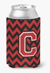 Buy this Letter C Chevron Black and Red   Can or Bottle Hugger CJ1047-CCC