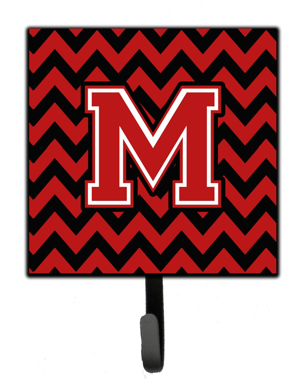 Letter M Chevron Black and Red   Leash or Key Holder CJ1047-MSH4 by Caroline's Treasures