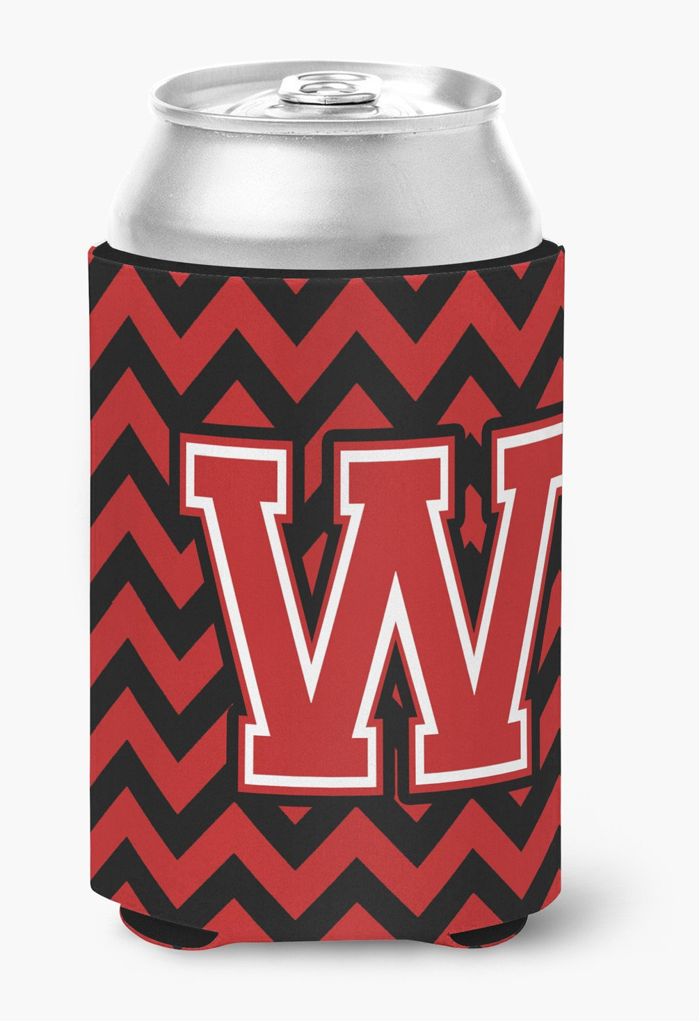 Buy this Letter W Chevron Black and Red   Can or Bottle Hugger CJ1047-WCC
