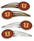 Buy this Letter U Chevron Garnet and Gold Set of 4 Barrettes Hair Clips CJ1048-UHCS4
