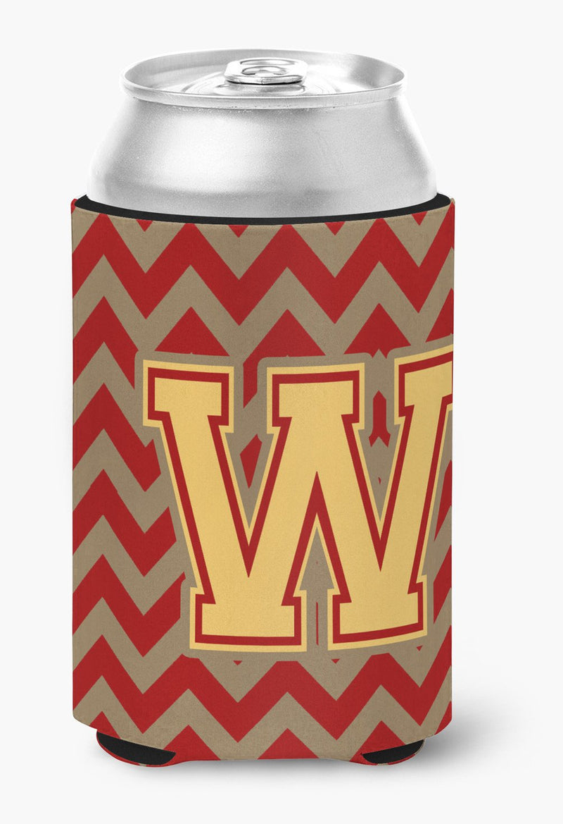 Buy this Letter W Chevron Garnet and Gold  Can or Bottle Hugger CJ1048-WCC