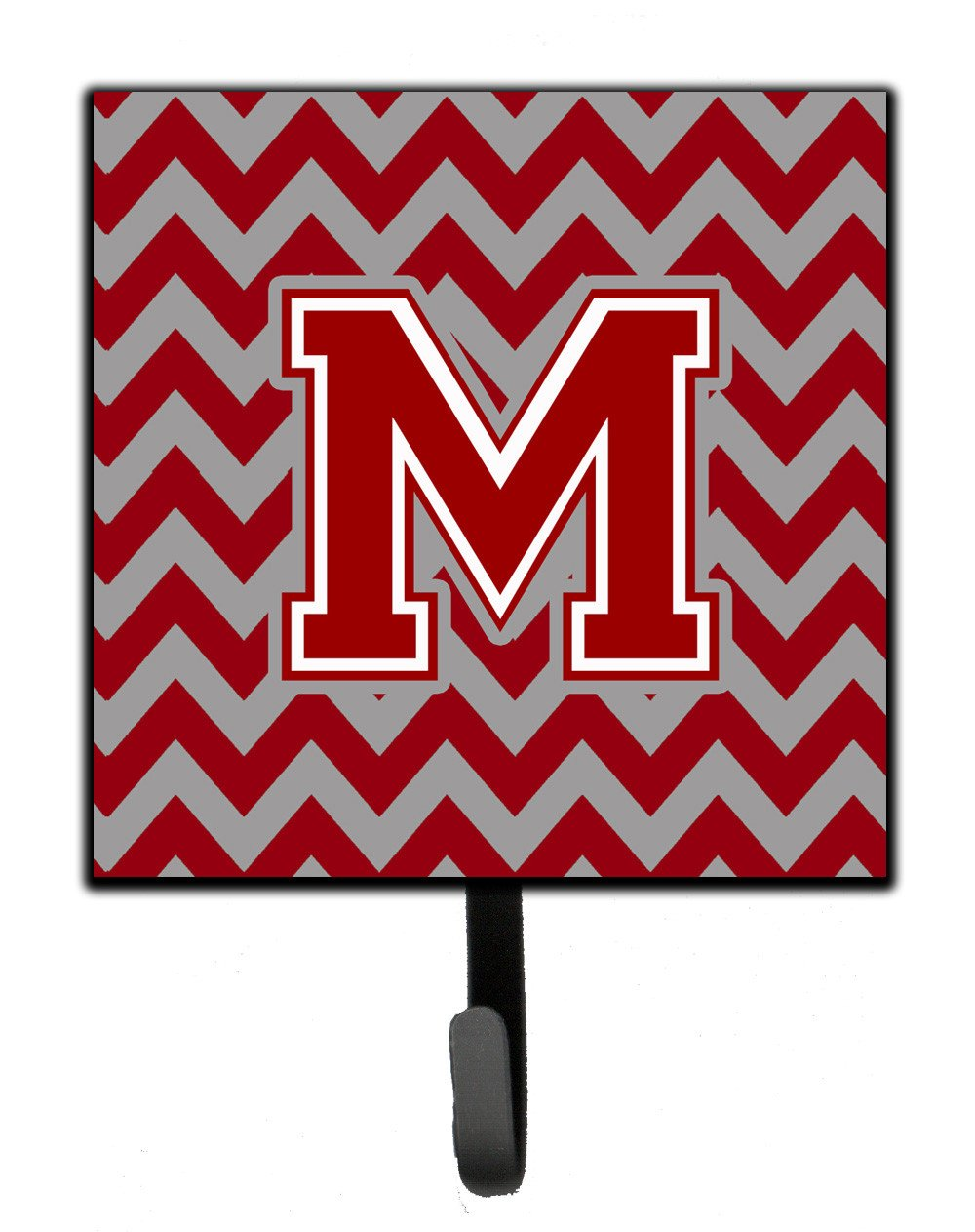Letter M Chevron Maroon and White Leash or Key Holder CJ1049-MSH4 by Caroline's Treasures