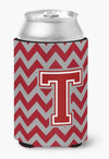 Buy this Letter T Chevron Maroon and White Can or Bottle Hugger CJ1049-TCC