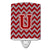 Buy this Letter U Chevron Maroon and White Ceramic Night Light CJ1049-UCNL