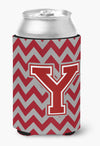 Buy this Letter Y Chevron Maroon and White Can or Bottle Hugger CJ1049-YCC
