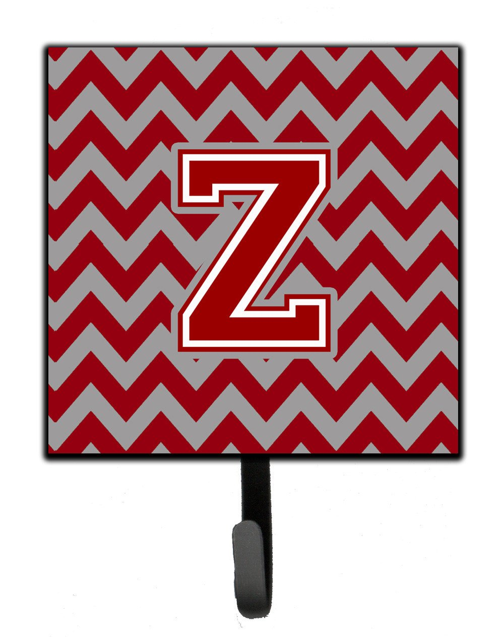 Letter Z Chevron Maroon and White Leash or Key Holder CJ1049-ZSH4 by Caroline's Treasures