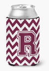 Buy this Letter R Chevron Maroon and White  Can or Bottle Hugger CJ1051-RCC