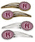Buy this Letter R Chevron Maroon and White Set of 4 Barrettes Hair Clips CJ1051-RHCS4