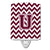 Buy this Letter U Chevron Maroon and White  Ceramic Night Light CJ1051-UCNL