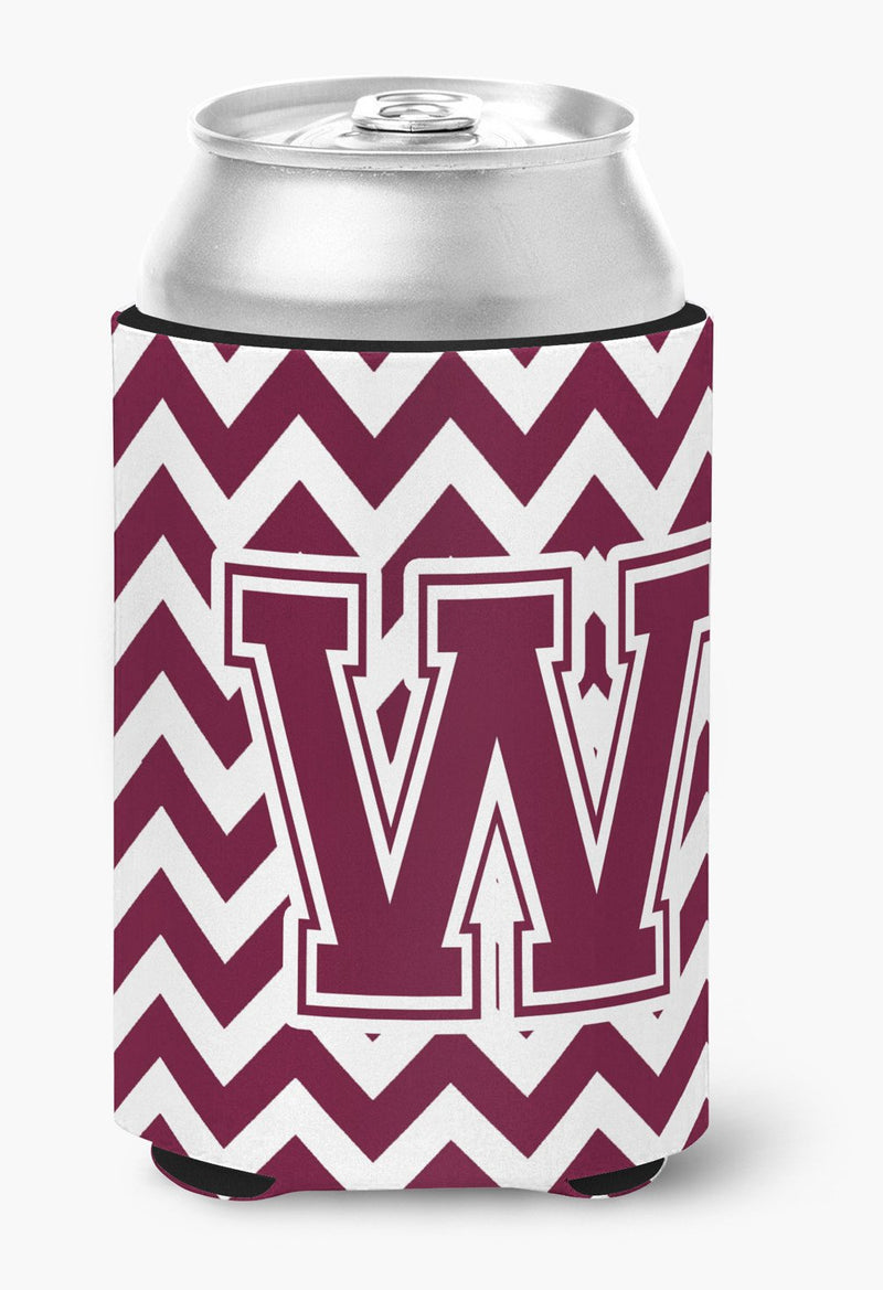 Buy this Letter W Chevron Maroon and White  Can or Bottle Hugger CJ1051-WCC