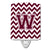 Buy this Letter W Chevron Maroon and White  Ceramic Night Light CJ1051-WCNL