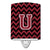 Buy this Letter U Chevron Garnet and Black  Ceramic Night Light CJ1052-UCNL