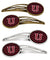 Buy this Letter U Chevron Garnet and Black Set of 4 Barrettes Hair Clips CJ1052-UHCS4