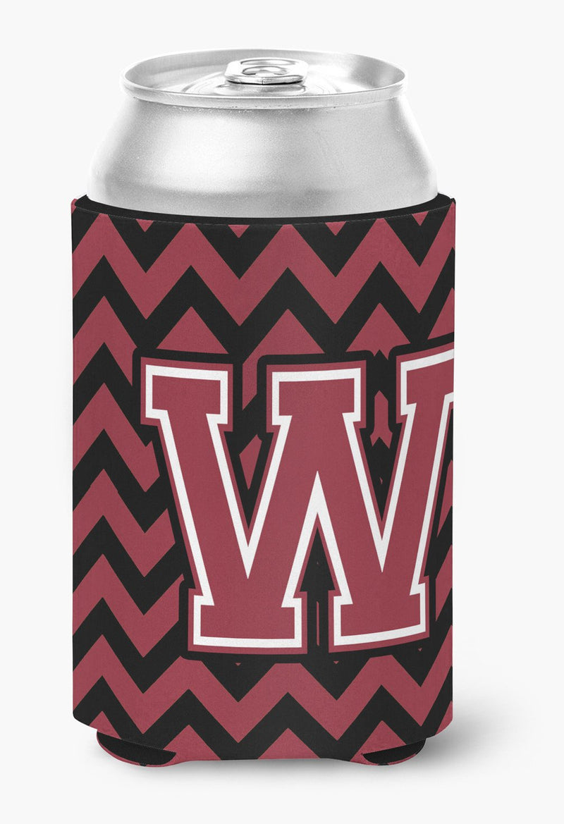 Buy this Letter W Chevron Garnet and Black  Can or Bottle Hugger CJ1052-WCC