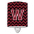 Buy this Letter W Chevron Garnet and Black  Ceramic Night Light CJ1052-WCNL