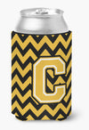 Buy this Letter C Chevron Black and Gold Can or Bottle Hugger CJ1053-CCC