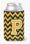 Buy this Letter P Chevron Black and Gold Can or Bottle Hugger CJ1053-PCC