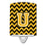 Buy this Letter U Chevron Black and Gold Ceramic Night Light CJ1053-UCNL