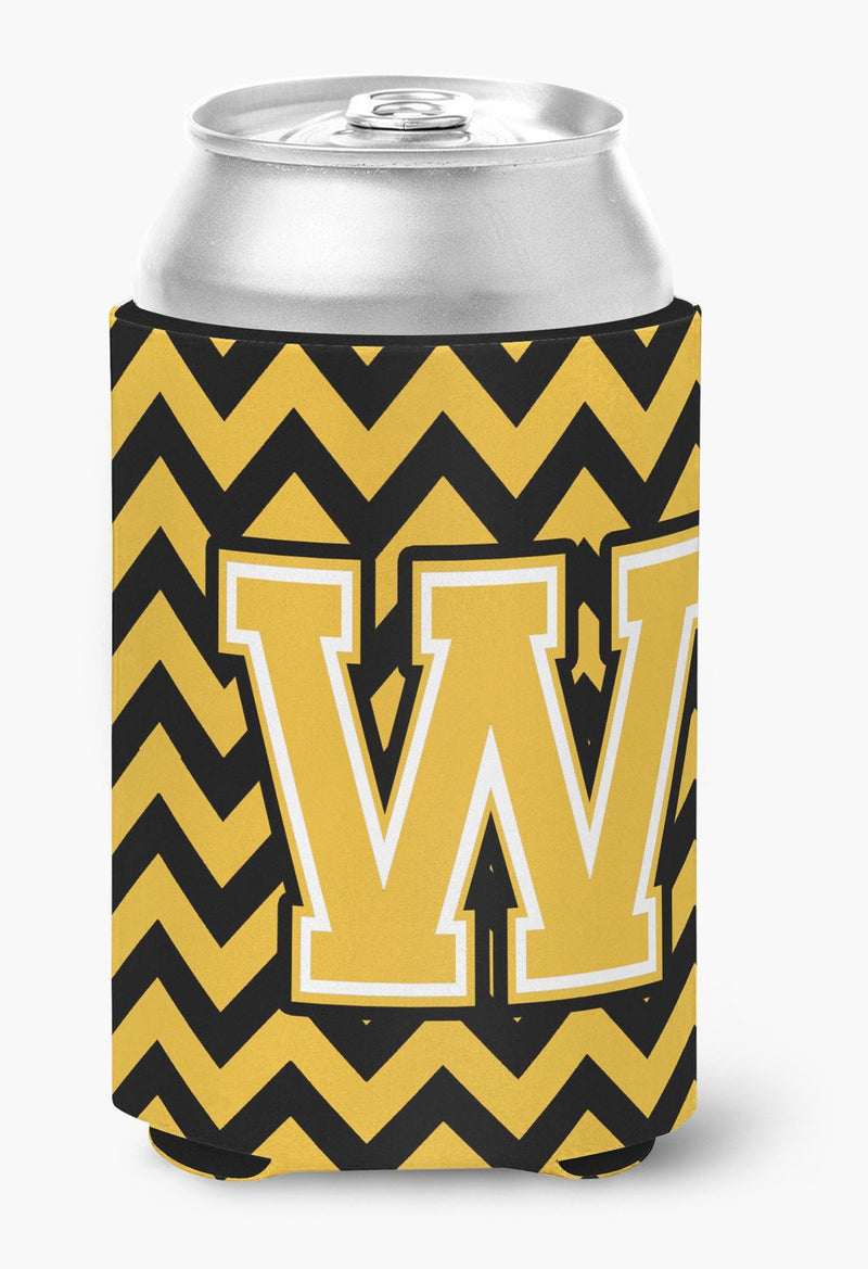 Buy this Letter W Chevron Black and Gold Can or Bottle Hugger CJ1053-WCC