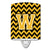 Buy this Letter W Chevron Black and Gold Ceramic Night Light CJ1053-WCNL