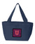 Buy this Letter U Chevron Yale Blue and Crimson Lunch Bag CJ1054-UNA-8808