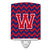 Buy this Letter W Chevron Yale Blue and Crimson Ceramic Night Light CJ1054-WCNL