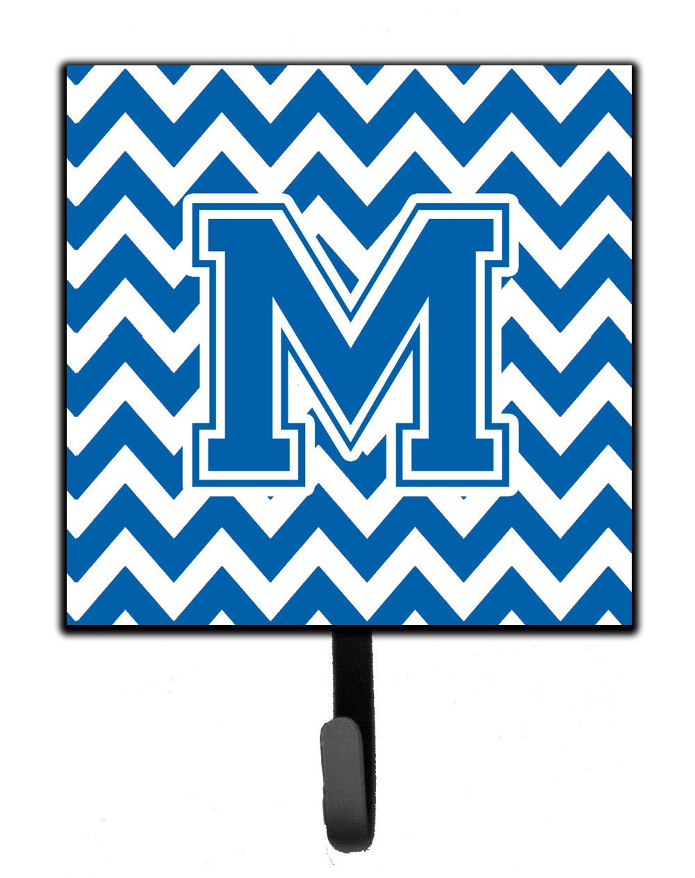 Letter M Chevron Blue and White Leash or Key Holder CJ1056-MSH4 by Caroline's Treasures