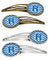 Buy this Letter R Chevron Blue and White Set of 4 Barrettes Hair Clips CJ1056-RHCS4