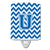 Buy this Letter U Chevron Blue and White Ceramic Night Light CJ1056-UCNL