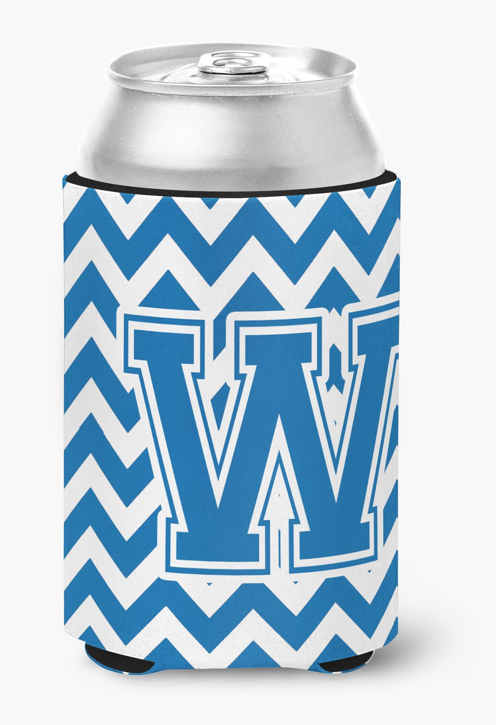 Buy this Letter W Chevron Blue and White Can or Bottle Hugger CJ1056-WCC