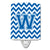 Buy this Letter W Chevron Blue and White Ceramic Night Light CJ1056-WCNL